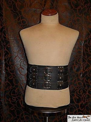 Gladiator/Barbarian/Viking heavy triple belt with removable belt! Brown or black