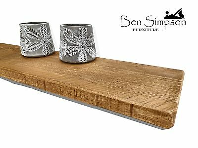 Rustic Floating Shelves Solid Wood Fixings Included BEN SIMPSON FURNITURE