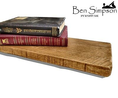 Rustic Floating Shelf - Shelves Thin Industrial Wood Handmade Solid Wooden T22