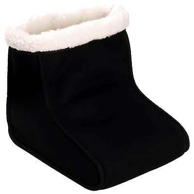 Electric Heated Foot Relaxer Massager Warmer Black Comfort Feet Fleece Suede