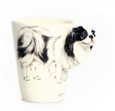 Blue Witch 3D -Japanese Chin Dog Ceramic Hand Crafted Coffee Mug