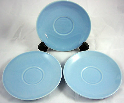 "( 3 ) T S & T Lu-Ray Pastels Blue 6"" Saucers"