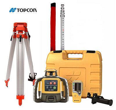 New! Topcon RL-H4C Construction Laser Level DB Kit with Tripod and 16' Rod 10th
