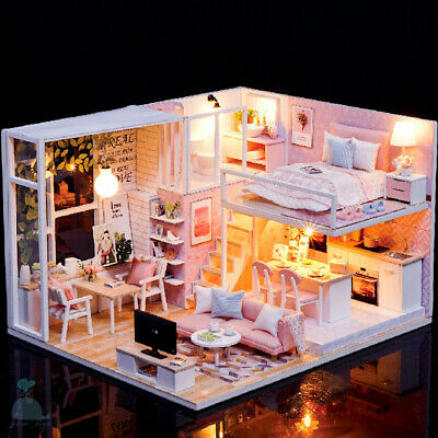DIY Handcraft Miniature Project Wooden Dolls House My Little Studio Of Serenity