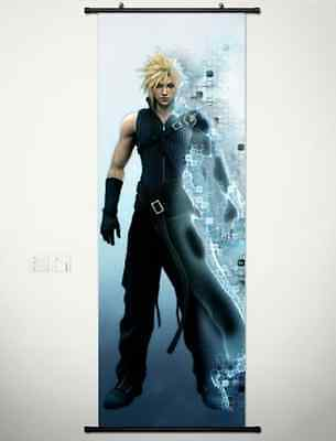 Home Decor Japanese Anime Wall poster Scroll Final Fantasy VII Cloud New 004