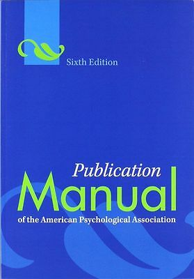 NEW Publication Manual of the APA 6th Edition Fast Ship