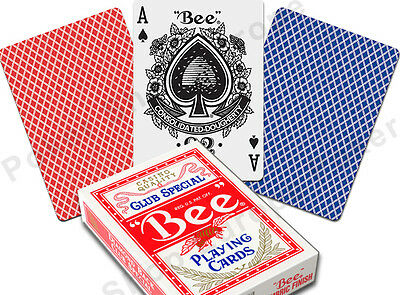 BEE PLAYING CARDS CLUB SPECIAL No.92 REGULAR INDEX POKER SIZE CASINO QUALITY