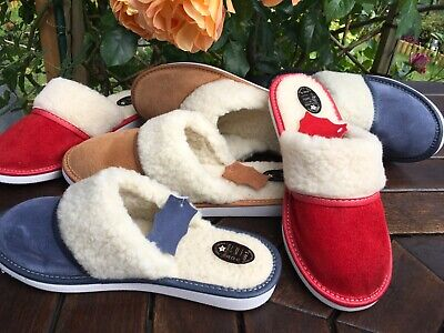 New Lady Women Sheepskin Suede Leather Slippers Wool Garden Home Socks Flip-Flop
