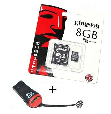 Kingston SDC4 / 8GB Class 4 Micro SD Con Adaptador 8 GB + Lector micro  SD a USB