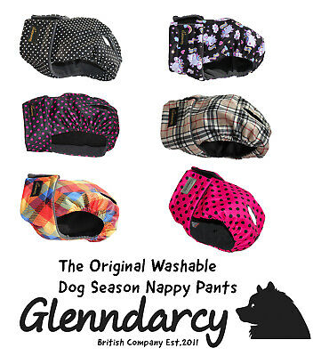 Glenndarcy Female Dog In Season Pants - Heat Nappy -  Sizes Xs - Medium Long