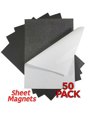 A4 0.4mm Self Adhesive Sheet Magnets | 50 pack | Ref.59175