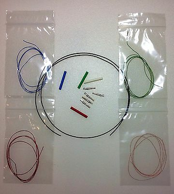 """Litz Tonearm Rewire Kit 33 AWG Color Coded 4 Wires Each 20"""" or 50.8 cm long"""