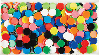 200 Maths Games Counters 10 Colours Solid Round Counting Numeracy