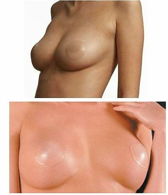 Silicone Nipple Cover Womens Reusable Self Adhesive Breast Pad Nude Petal Round