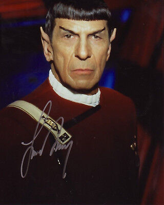 LEONARD NIMOY - STAR TREK AUTOGRAPH SIGNED PP PHOTO POSTER