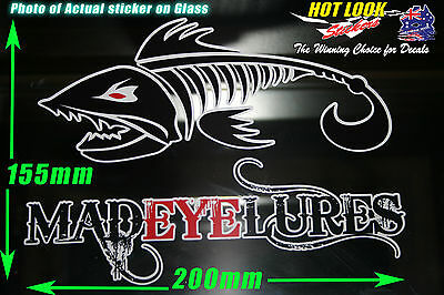 MAD EYE LURES Bait Reel Rod Sticker bomb Decal for Fishing boat  tackle Box