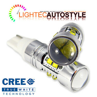 2x XENON WHITE CREE HIGH POWER CANBUS 50W 501 W5W T10 SIDELIGHT LED BULBS 12V