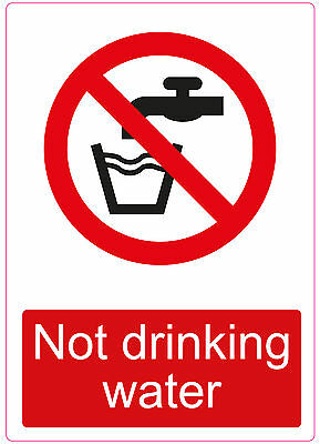 Do not drink drinking water label sticker sign caution warning danger A5 210x150