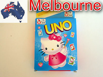Brand New HELLO KITTY UNO Cards - Family Card Games **Post from Melbourne*