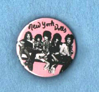 NEW YORK DOLLS  BADGE. Johnny Thunders, punk.