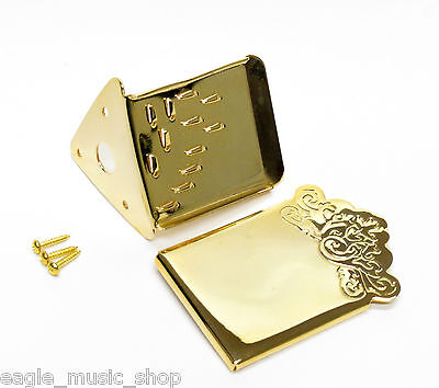 Mandolin Tailpiece Gold Plated Engraved Tailpiece by Leader
