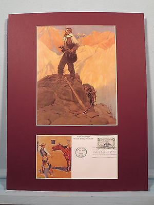 The Prospector painted by N.C. Wyeth & First day Cover for Western Miners