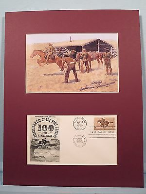 Federic Remington's painting honoring the Pony Express & First day Cover