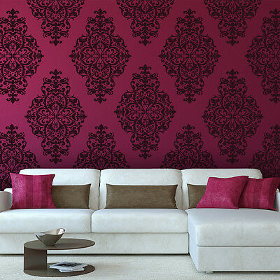 Damask Stencil Yesica - Large size - Elegant Look Better than wallpaper for DIY