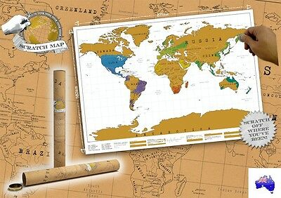 New Large Scratch Map, Travel Atlas Personalized Travel World Map Gift