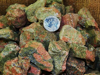 500 Carat Lots of Unakite Rough - Plus a FREE Faceted Gemstone