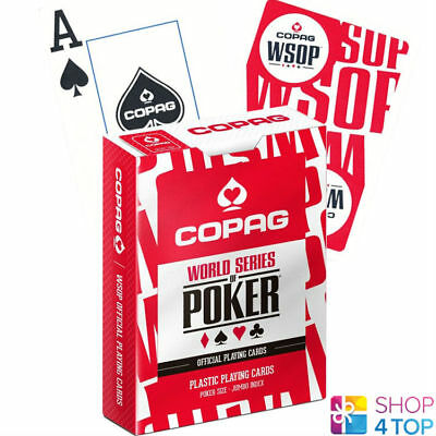 Copag Wsop World Series Of Poker 100% Plastic Jumbo Index Poker Cards Deck Red