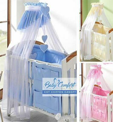 Coronet Canopy Drape/Mosquito Net 320cm Fits Cot Bed - Check or Plain Pattern