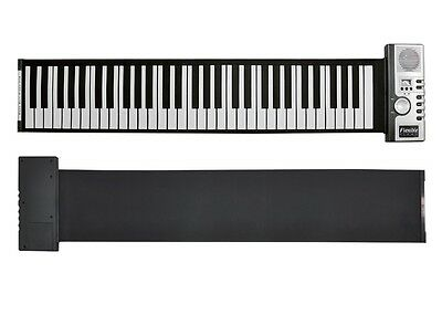 NEW PORTABLE DIGITAL ELECTRONIC KEYBOARD PIANO FLEXIBLE ROLL UP CHILD FRIENDLY