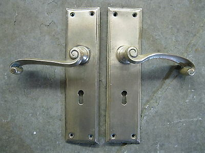 Pair of Original Reclaimed Brass Copper/Bronze Lever Handles LH17