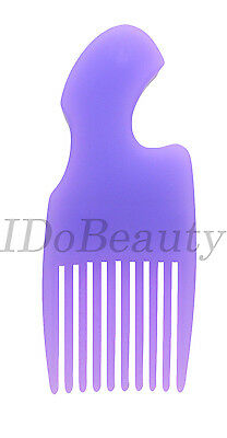 Afro Comb Hair Wig Detangler Wide Tooth pocket Purple Lilac