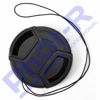 Phot-R 58mm PRO Centre-Pinch Snap-On Front Lens Cap for Canon Nikon Sony+Holder