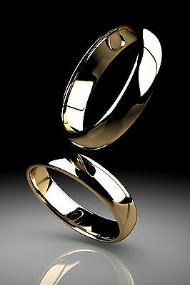 Women's Classic Wedding Band 14k White or Yellow Gold Ring Comfort Fit Plain 3MM