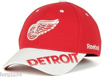 outlet store 2cc10 cf6b4 Detroit Red Wings Reebok MO76Z NHL Stretchfit Center Ice Hockey Cap Hat L XL