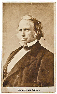 HENRY WILSON Carte de Visite Photograph Vice President of the United States