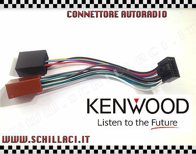 Connettore adattatore ISO autoradio KENWOOD 16 pin 22x10 mm car stereo