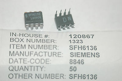 SIEMENS SFH6136 Optocoupler Open Collector 8-Pin Dip New Lot Quantity-25