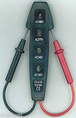 120-480V AC/DC 4-Way Multi Circuit/Elecrical Tester/Detector - Voltage or Outlet
