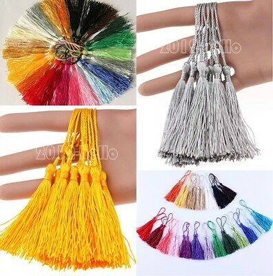 20Pcs Chinese Traditional Imitation Silk Drapery Trimmings Tassels U Pick Color