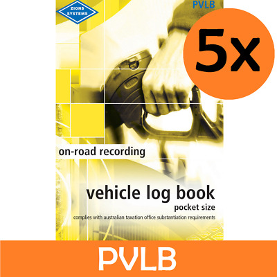 Vehicle Log Book Pocket Size Zions Systems ATO Compliant PVLB Car/Truck New