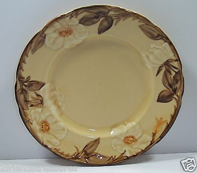 Cafe Royal Franciscan Salad Luncheon Plate Dish  Earthenware Raised Flowers