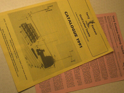 Scarce Vintage 1991 Terry Eustace Vintage Advertising Fishing Catalogue