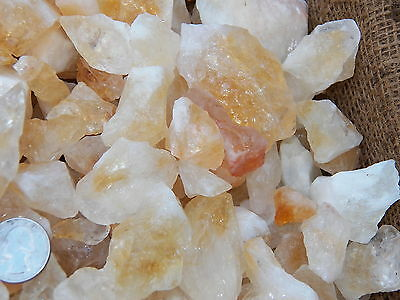 2000 Carat Lots of Citrine Rough - Plus a FREE Faceted Gemstone