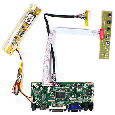 HDMI VGA DVI Audio LCD Driver board for 15Inch 1024x768 lcd panel CCFL backlight