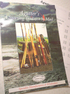 Vintage Agutter's Split Cane Rod Advertising Fishing Catalogue + 1994 Price List