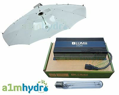 Lumii 600W Digital Dimmable Ballast Parabolic Shade Grow Light Kit Plus Bulb